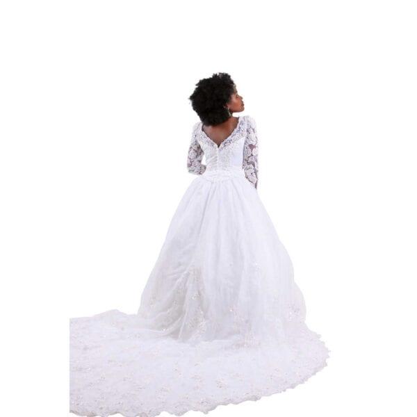 Oleg-Cassini-wedding-dress back view